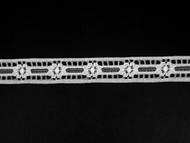 "White Insertion Lace Trim - 0.625"" (WT0058E04)"