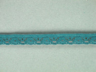 "Teal Edge Lace Trim - 0.375"" (TL0038E01)"