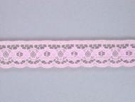 "Lt Pink Edge Lace Trim - 0.75"" (PK0034E02)"