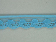"Turquoise Edge Lace Trim - 0.75"" (TQ0034E01)"