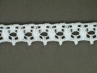 "White Edge Lace Trim - 0.75"" (WT0034E08)"