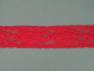 "Coral Pink Edge Lace Trim - 1.125"" (CP0118E01)"