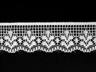 "White Edge Lace Trim - 1"" (WT0100E02)"