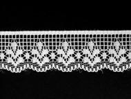 "White Edge Lace Trim - 1"" (WT0100E02)"