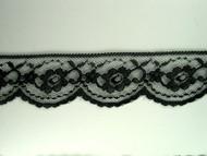 """Black Edge Lace Trim - 2.125"""" (BK0218E01)"""