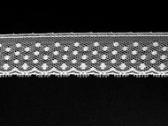 "White Edge Lace Trim - 1"" (WT0100E04)"