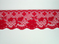 "Cherry Pink Edge Lace Trim - 2.125"" (CH0218E01)"