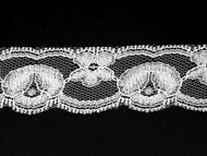 "White Edge Lace Trim - 1.25"" (WT0114E03)"