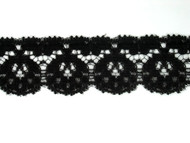 "Black Edge Lace Trim - 1.25"" (BK0114E01)"