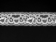 "White Edge Lace Trim - 1"" (WT0100E03)"
