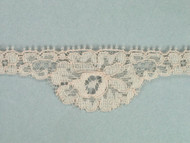 "Beige Scalloped Lace Trim - 1.125"" (BG0118S01)"