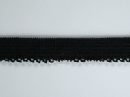 "Black Elastic w/ Fancy Edge - 0.5"" (BK0012V01)"