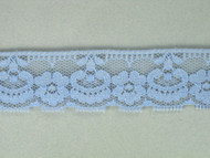 "Sky Blue Edge Lace Trim - 1.125"" (SK0118E02)"