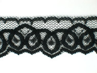 "Black Edge Lace Trim - 1.25"" (BK0114E04)"