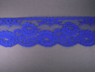 "Bright Blue Edge Lace Trim - 2.5"" (BB0212E01)"
