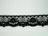 "Black Edge Lace Trim - 1.375"" (BK0138E03)"