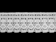 """White Edge Lace Trim - Polyester w/ cotton feel - 2"""" (WT0200E06)"""
