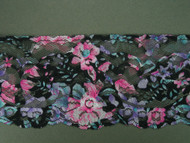 "Multi-Color Floral Print Edge Lace Trim - 2.875"" (MC0278E01)"