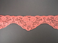 "Peach Pink Scalloped Lace Trim - 2.375"" (PP0238S01)"