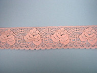 "Peach Pink Edge Lace Trim - 2.25"" (PP0214E01)"