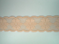 "Lt Peach Galloon Lace Trim - 2.5"" (PE0212G02)"