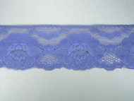 "Md Blue Edge Lace Trim w/ Fine Netting - 2.75"" (MB0234E01)"