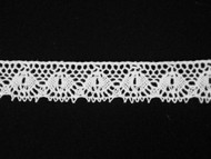 "Off White Edge Lace Trim - Cotton - 0.75"" (WT0034E11)"
