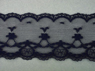 "Navy Edge Lace Trim - 2.375"" (NB0238E01)"