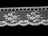 "White Edge Lace Trim - Beading - 2"" (WT0200E04)"