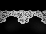 "White Scalloped Lace Trim - 3.5"" (WT0312S02)"