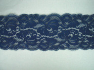 "Cobalt Blue Galloon Lace Trim - 3.5"" (CB0312G01)"