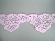 "Lt Pink Scalloped Lace Trim - 3.5"" (PK0312S01)"