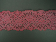 """Dusty Rose Galloon Lace Trim - 3.25"""" (DR0314G01)"""