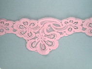 "Pink Scalloped Lace Trim - 3.375"" (PK0338S01)"