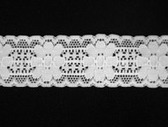 "White Galloon Stretch Lace Trim - 1.125"" (WT0118G03)"