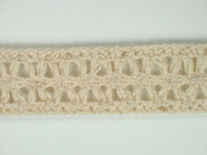 "Beige Edge Lace Trim - Cotton - 1"" (BG0100E02)"
