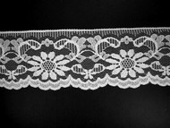 "White Edge Lace Trim - 3.75"" (WT0334E01)"