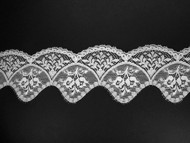 "White Scalloped Lace Trim - 3.125"" (WT0318S01)"