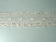 "Beige Edge Lace Trim w/ Fine Netting - 2.25"" (BG0214E01)"