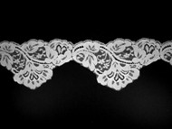 "White Scalloped Lace Trim - 3.5"" (WT0312S01)"