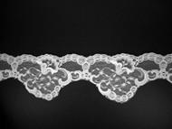 "White Scalloped Lace Trim - 3.375"" (WT0338S01)"