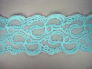 "Aqua Galloon Lace Trim - 4.375"" (AQ0438G01)"