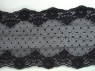 "Navy Blue Galloon Lace Trim - 3.75"" (NB0334G02)"