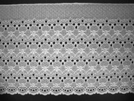 "White Edge Lace Trim - 8.75"" (WT0834E01)"