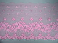 "Pink Edge Lace Trim - 7.25"" (PK0714E01)"