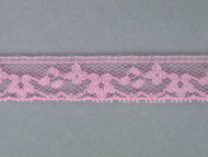 "Pink Edge Lace Trim - 0.625"" (414 yards) (PK0058E02W)"