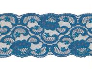 "Peacock Blue Galloon Lace Trim - 5.25"" (PB0514G01)"