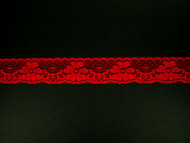 "Red Edge Lace Trim - 1.125"" (525 yards) (RD0118E01W)"
