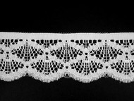 "White Edge Lace Trim - 2.25"" (190 yards) (WT0214E04W)"
