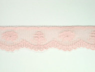 "Pink Edge Lace Trim w/ Sheen - 1.125"" (435 yards) (PK0118E02W)"